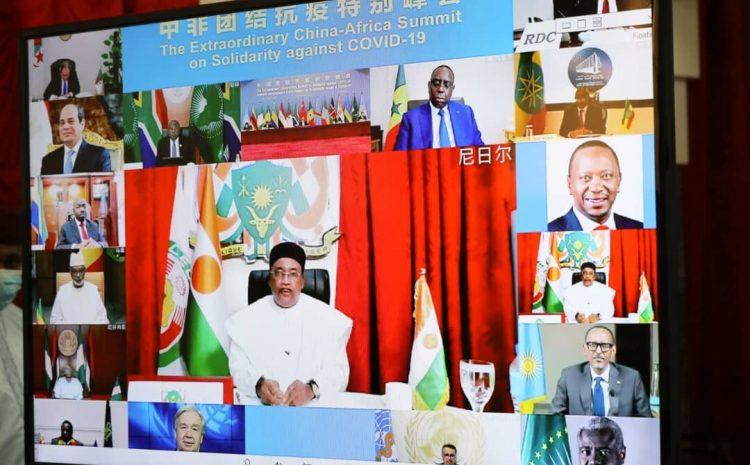 Le Président Issoufou Mahamadou a participé mercredi après-midi au Sommet virtuel Chine-Union Africaine sur la Covid-19.