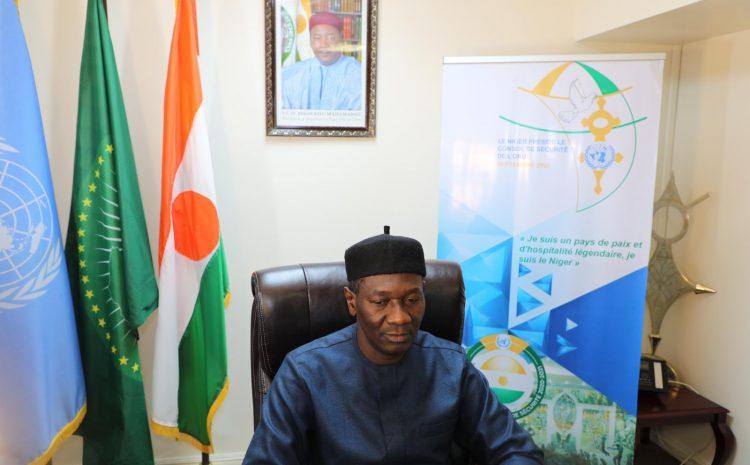Déclaration de M. Aougui Niandou,  Représentant permanent adjoint du Niger auprès des Nations unies (Au nom de l'A3+1) au briefing du Conseil de sécurité sur la situation au Mali