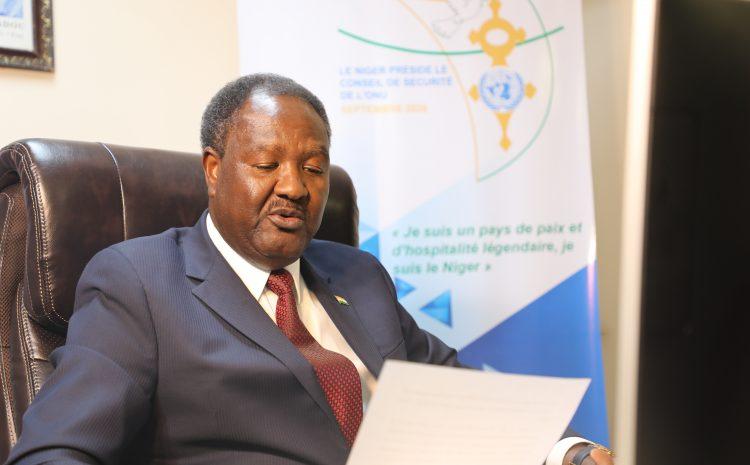 Allocution de M. Abdou Abarry, Représentant Permanent du Niger auprès des Nations-Unies     au débat Virtuel du Conseil de Sécurité sur la Résolution 2532