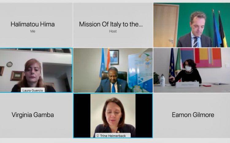 Remarques de M. Abdou Abarry représentant permanent du Niger auprès des Nations unies au débat virtuel sur la violence contre les petites filles dans les conflits armes et le rôle du système de justice pénale internationale.