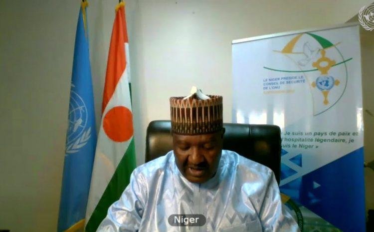 Intervention de M. Abdou ABARRY, Représentant permanent du Niger auprès des Nations Unies au nom des A3 et Saint Vincent et les Grenadines sur la question de la Force Conjointe du G5-Sahel