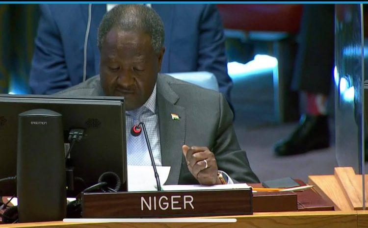 Déclaration de M. ABDOU ABARRY, Représentant Permanent du Niger auprès des Nations Unies a la reunion d'information du Conseil de Sécurité Thème : «Faire face à la menace que représentent les flux illicites d'armes légères et de petit calibre (ALPC) dans les opérations de paix».