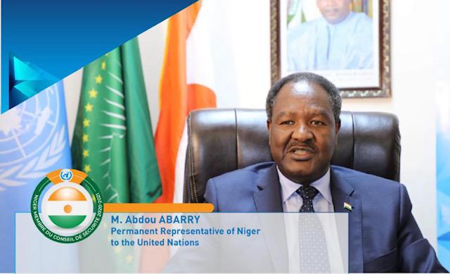 Intervention de M. Abdou Abarry Représentant Permanent du Niger auprès des Nations a l'adoption de la PRST sur l'UNOWAS…