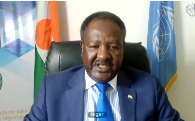 Déclaration de M. Abdou Abarry Représentant Permanent du Niger auprès des Nations Unies (Coordonnateur des A3+1) à la réunion virtuelle entre le Conseil de Paix et de Sécurité (UA) et le Groupe des A3+1 à New York