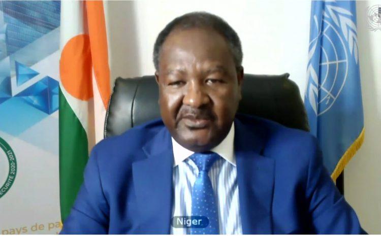 Déclaration de M. Abdou ABARRY, Représentant Permanent du Niger auprès des Nations Unies a la réunion Virtuel du Conseil de Sécurité sur la situation en Afghanistan