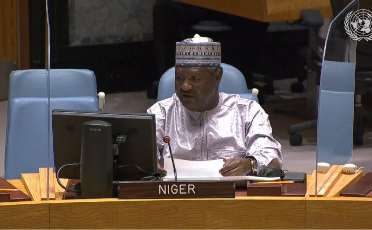 Intervention de M. Abdou ABARRY Représentant Permanent du Niger auprès des Nations sur la situation au Moyen Orient, y compris la question Palestinienne