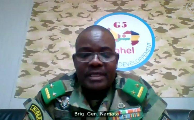 Presentation Visio-conference de la Force Conjointe du G5 Sahel au Conseil de Sécurité des Nations Unies