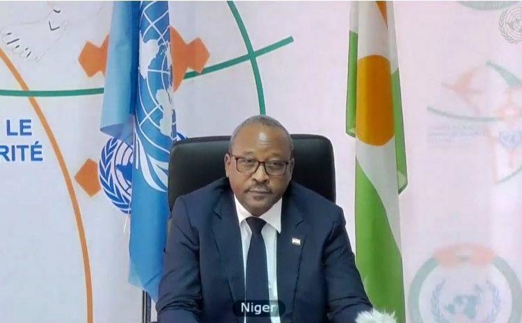 """Conseil de sécurité de l'ONU: """"Le Monde a aujourd'hui, plus que jamais, besoin d'institutions de régulation fortes , déclare le chef de la diplomatie nigérienne Hassoumi Massaoudou"""