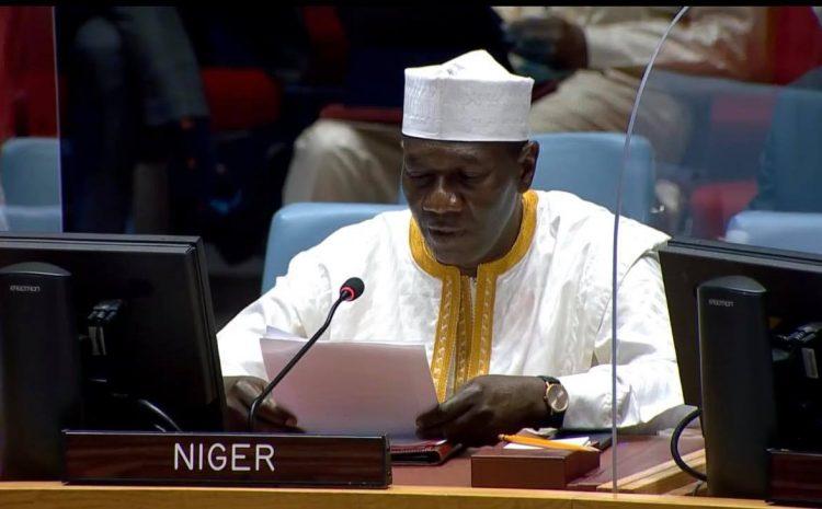 Déclaration de M. AOUGUI NIANDOU, Représentant permanent du Niger adjoint auprès des Nations unies au nom des A3 et de St. Vincent et les Grenadines sur la situation en Afghanistan