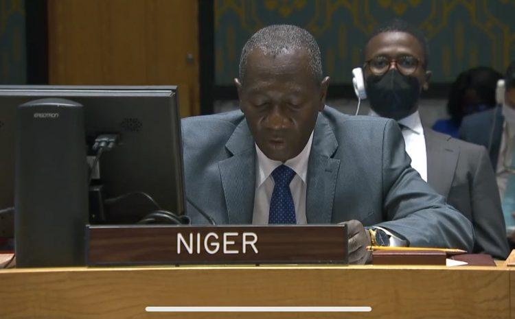 Allocution de M. Aougui Niandou Représentant Permanent Adjoint du Niger auprès des Nations Unies sur  « Les technologies et les opérations de maintien de la paix»