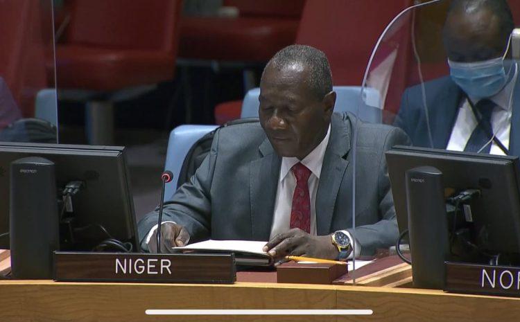 Allocution de M. Aougui Niandou Représentant Permanent Adjoint du Niger auprès des Nations Unies sur   la: « Menaces à la paix et à la sécurité internationales causées par les actes terroristes »