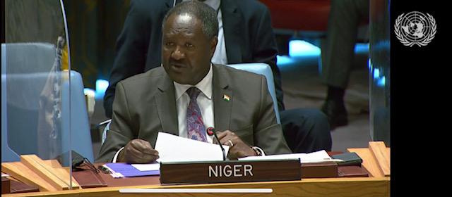 Allocution de M. Abdou ABARRY,  Représentant Permanent du Niger auprès des Nations Unies au briefing du Conseil de Sécurité sur l'utilisation  des armes chimiques en Syrie